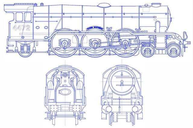 Classic projects lner class a3 4472 flying scotsman e t for Web design blueprints