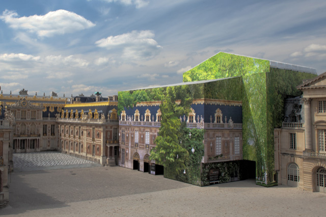 Bon A Monumental Artwork Conceals Building Work At The Palace Of Versailles