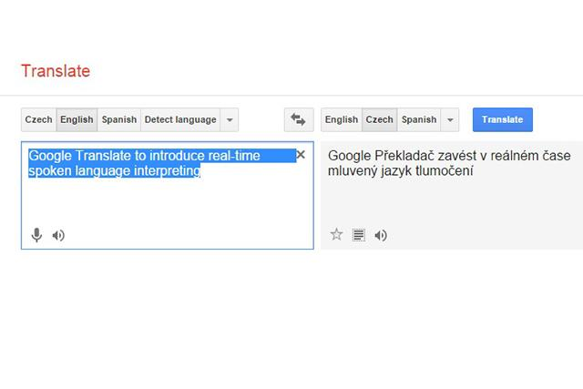 Google Translate to introduce spoken language interpreting