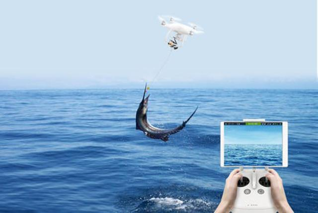 Fishing drone flies 2km out to sea and brings home its for Best drone for fishing